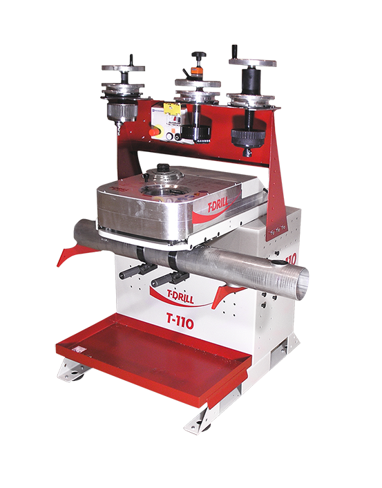 T-DRILL collaring machine T-110 for stainless steel tubes