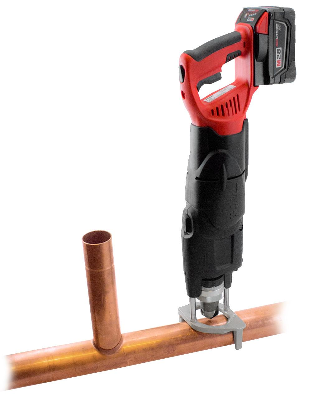 T-DRILL T-65B Cordless Heavy Duty Collaring Machine for Copper pipes.