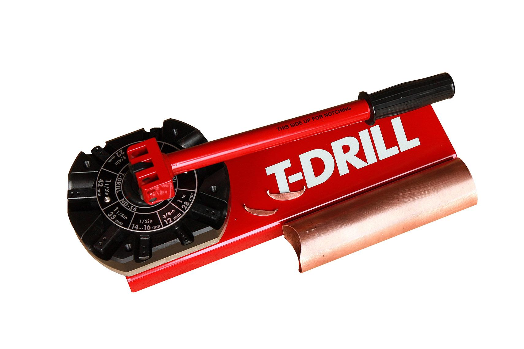 T-DRILL ND-54 Tube End Notcher with copper tube
