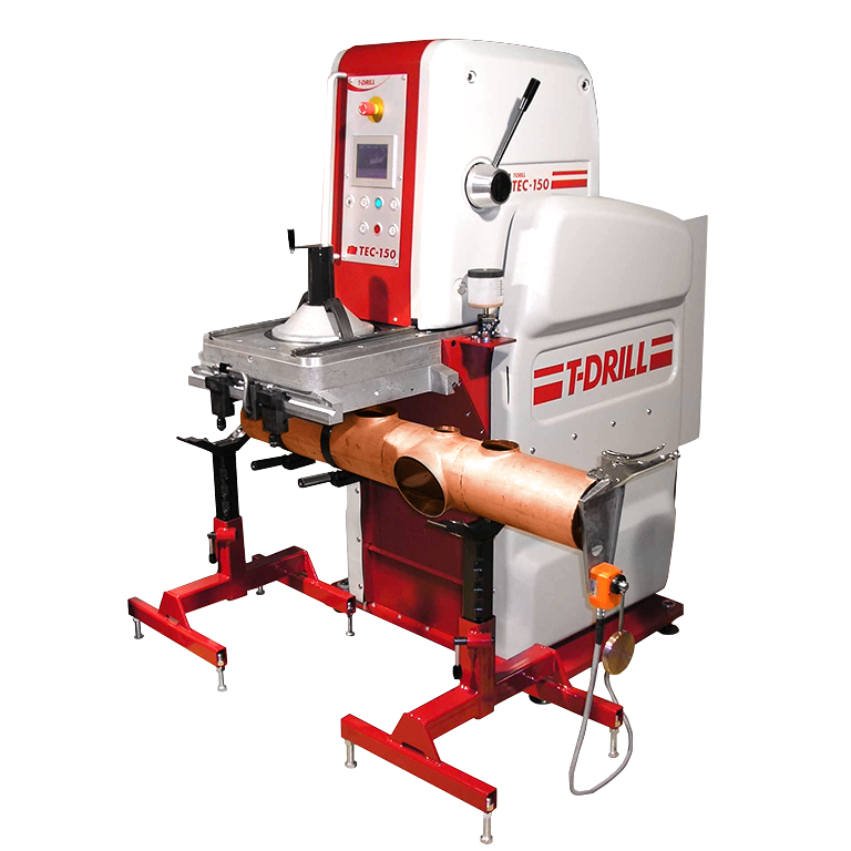 T-DRILL TEC-150 Collaring Machine for Copper tubes
