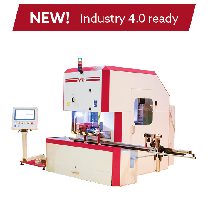 High-speed fully automatic Collaring machine T-DRILL S-80 for Stainless Steel and Copper pipes with fully servo controlled process