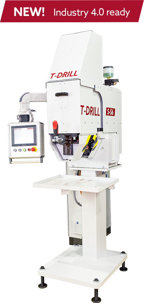 T-DRILL S-56 collaring machine for producing T-outlets for brazed and welded joints